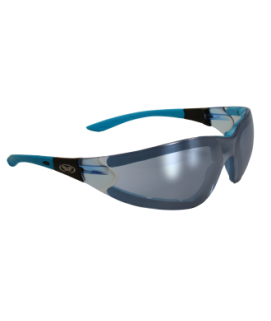 Blue Poly-carbonate Safety Glasses (smoke lense)